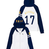 University of Michigan Full-Zip Hoodie - PINK - Victoria's Secret