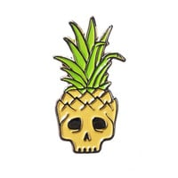 Pineapple Skull Lapel Pin