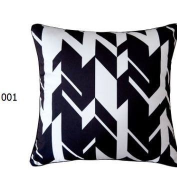 New black and white plush pillows