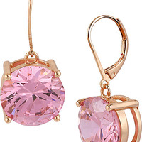 BetseyJohnson.com - PINK CRYSTAL DROP EARRING PINK