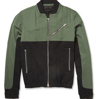 Tim Coppens - Panelled Cotton-Blend Bomber Jacket | MR PORTER
