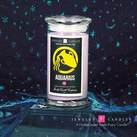 Aquarius Zodiac Sign - Jewel Candle