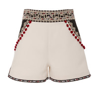 Moroccan Embroidery Tailored Shorts | Moda Operandi
