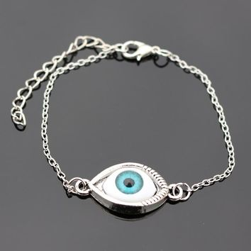 SL176 Blue Evil Eye Bracelets Bangle pulseras mujer For Women Men Punk Jewelry Wrap Bracelet European & American