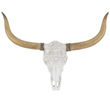 Longhorn Skull Wall Decor with Lace | Hobby Lobby | 1649706