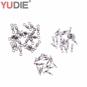 20Pcs/lot High Tensile Strength Sturdy Stainless high Carbon Steel Corrosion Gear Ring Connected Fishing Sport Accessories Tool
