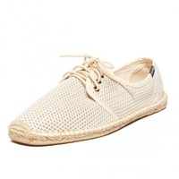 Mesh Derby Lace Up - Natural Espadrilles for Men from Soludos - Soludos Espadrilles