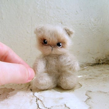 Little cute fluffy kitten with, crochet cat, crochet plush toy, small crochet cat, little amigurumi cat, small pet animal, small cat