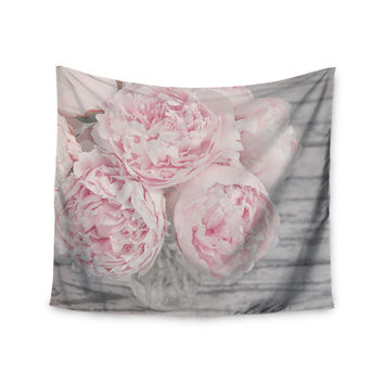 "Suzanne Harford ""Pink Peony Flowers"" Floral Photography Wall Tapestry"