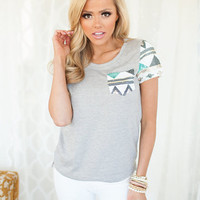 Gray Cap Sleeve Sequins Top