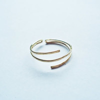 Gold filled double use knuckle ring,midi ring,slim ring, gifts for her, tiny rings, forged silver, above rings, unique ring, delicate ring