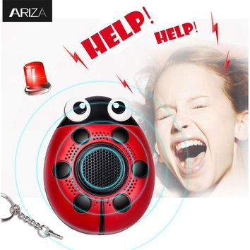 2017 new 130db self defense Personal keychain alarm Support small quantity customized Logo LED light and mobile speaker