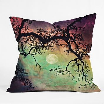 Shannon Clark Aurora Moon Throw Pillow