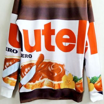 Nutella Chocolate Custom Sweatshirt Sweater