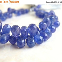 47% Off Outstanding Tanzanite Gemstone Faceted Teardrop Briolette Purple 9 to 9.5mm 8 beads