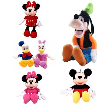 Mickey Mouse Minnie Donald Duck Daisy Goofy Dog Pluto Plush Disney Toys Cute Stuffed Toys Children Gift 7 Styles 30cm(FREE SHIPPING)