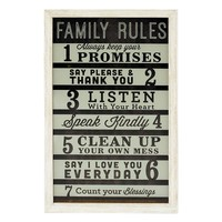 New View ''Family Rules'' Wall Decor
