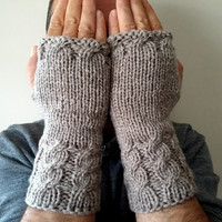 Men Gloves, Knit Mittens, Mittens, Camel Color, Long Men Gloves, Handmade, Crochet,Hand Warmer,Short Knitted Gloves,Winter Gloves,Gift Ideas