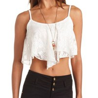 Crochet Lace Swing Crop Top by Charlotte Russe