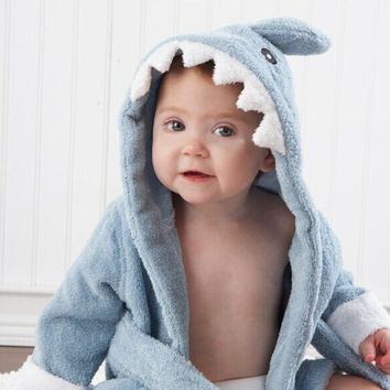 Baby Shark Bathrobe (Hooded Towels)