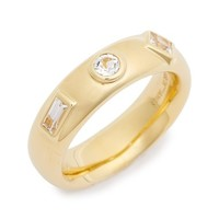 Women's Elizabeth and James 'Jo' White Sapphire Ring - Yellow Gold