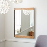 Metal + Wood Wall Mirror