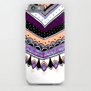 Purple Feathers iPhone & iPod Case by Michiko_design