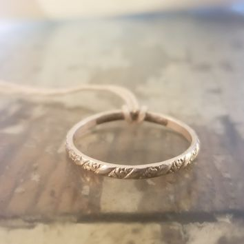 Handmade Sterling Silver Rope Eternity Band Ring
