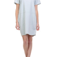 Bleached Denim Shift Dress