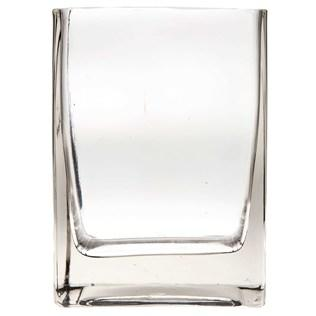 Clear Square Glass Vase