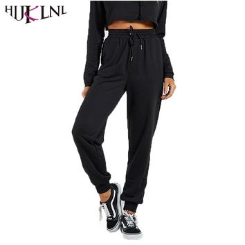 HIJKLNL Womens Workout Leggings Autumn Winter Loose High Waist Sportwear Fitness Leggings Pants pantalon femme hiver NA380