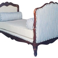 19th-C. French Oak Daybed