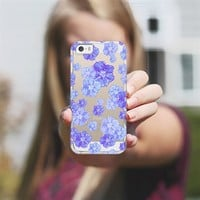 Blossoms Blue - Transparent/Clear Background iPhone 5s case by Lisa Argyropoulos | Casetagram