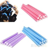 10Pcs Curler Makers Soft Foam Bendy Twist Curls Tool DIY Styling Hair Rollers = 5987789953