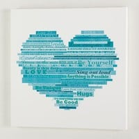 Graphic Quotes Wall Art - White/Pool