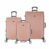 HyBrid Travel 3 PC Luggage Set Durable Phone Charge Feature Suitecase