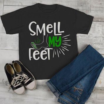 Kids Funny Halloween T Shirt Smell My Feet Graphic Tee Cool Matching Shirts Toddler Boy's Girl's