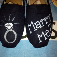 Marriage Proposal / Engagement Custom TOMS Shoes