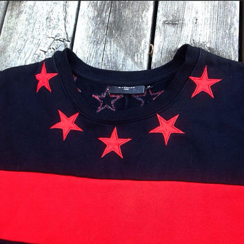 Givenchy 2012 Stars And Stripes Sweater Crewneck M Kanye Rottweiler Dog shirt hoodie jacket