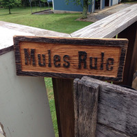 Mules Rule Sign, Mule Sign For Barn, Mule Train Gift, Mule Christmas Gift