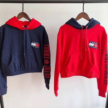 tommy jeans 90s capsule top with arm logo hoodie-1