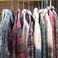 Mystery Flannel - Ombre Flannel Shirt, Bleached Flannel, Grunge Clothing, Oversized Shirt, Hipster Shirt, Indie Flannel, Acid Wash Shirt