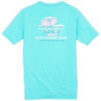 Southern Tide Womens The Sea Will Set You Free T-Shirt in Blue