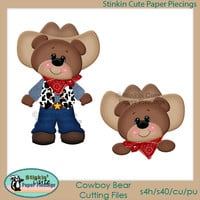 Cowboy Bears Cutting File Set
