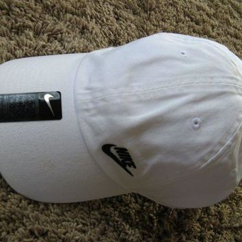 Sale!! New Nike Women's Heritage White Dri Fit Cap Hat Adjustable