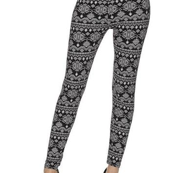Black & White Aztec Print Leggings
