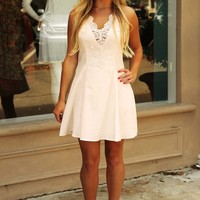 Lucky For You Dress: Cream