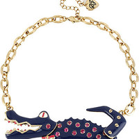 BetseyJohnson.com - MOVING ALLIGATOR NECKLACE NAVY