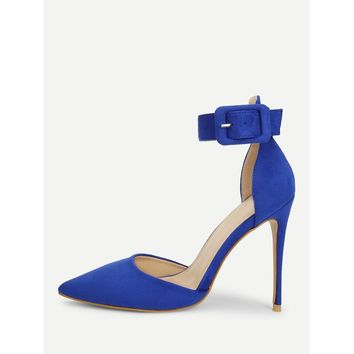 Ankle Strap Pointed Toe Stiletto Heels