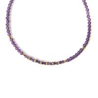 Emerson Amethyst Beaded Choker